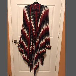 Jackets & Coats - Patterned Shawl